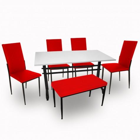 Valerya Mega  - Gözde Banklı Mutfak Masa Takımı (6 Kişilik)