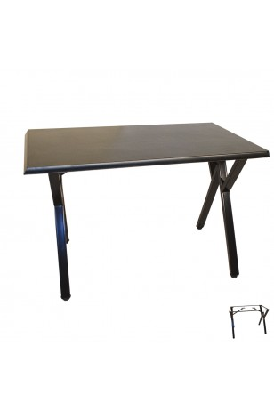 Anemon Werzalit Mutfak Masası 80x140 (ESB-SIYAH) (Kampanya)-3