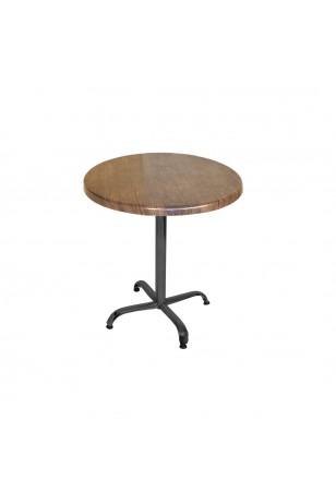 Indigo Werzalit Yuvarlak Mutfak Masası 70cm Çap (ESB Siyah) (Kampanya)