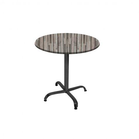 Indigo Werzalit Yuvarlak Mutfak Masası 70cm Çap (ESB Siyah) (Kampanya)-3