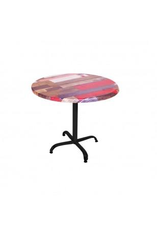 Indigo Werzalit Yuvarlak Mutfak Masası 90cm Çap (ESB Siyah) (Kampanya)-3