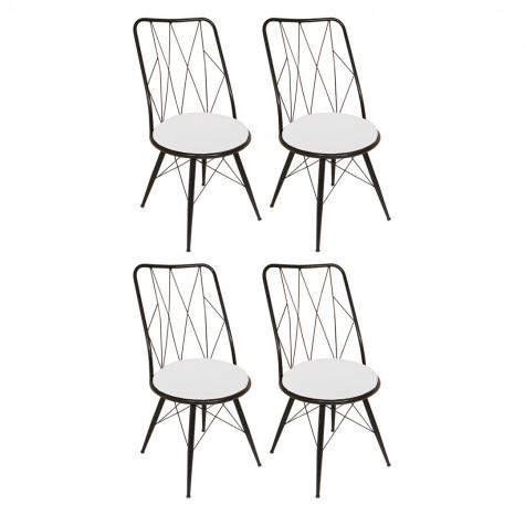 Royal Tel Sandalye (Elektrostatik Boya) (4 Adet Fiyatıdır)