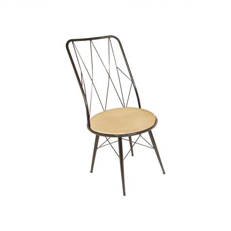 Royal Tel Sandalye (Kumaş) (Elektrostatik Boya)