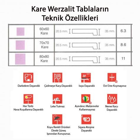 Indigo Werzalit Kare Mutfak Masası 70x70 (ESB-SİYAH) (Kampanya)-3